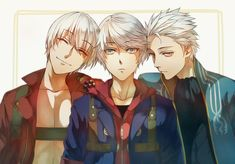 Tags: Fanart, Devil May Cry, Nero (Devil May Cry), Dante (Devil May Cry), Pixiv, Vergil (Devil May Cry), Fanart From Pixiv, Pixiv Id 11708834