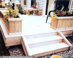 Small deck...I like the flower boxes as the rail