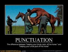Punctuation, people...