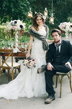 Whimsical Woodland Wedding Inspiration featuring Beryl by David Tutera - Mon Cheri Bridals