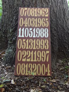 Important Dates Painted Sign by PurePaintedSigns on Etsy,