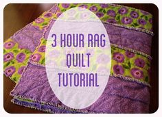 How to sew a flannel baby blanket rag strip quilt in three hours.