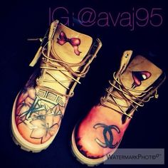 There is 1 tip to buy these shoes: custom timberlands dope artwork custom boots ribbon lips designer.