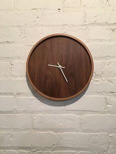 Modern Walnut Wood Clock