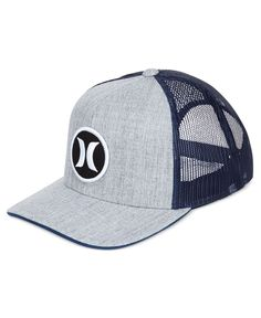 An adjustable snapback closure, mesh paneling and an embroidered logo patch at the front finish this Carver Icon hat from Hurley and your cool, casual look. | Polyester/acrylic | Hand wash | Imported