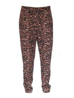 Topshop black brown and light pink straight leg pants Size 38