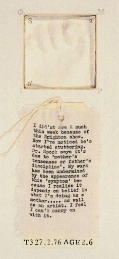 Mary Kelly artist Kelly PPD label detail