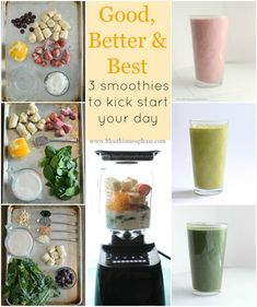 Smoothie 101 - how to make a good, better, and best smoothie, choose your level and enjoy! @Melissa Squires @Bless Design This Mess