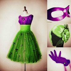 50's Female Riddler Costume Idea by MadRain92.deviantart.com on @deviantART