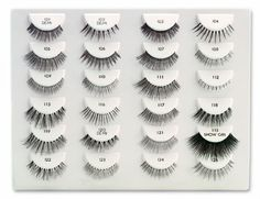 Ardell Fashion Lashes #116 (put full strip) #45 (cut in half and layer on outer corners) also try #106