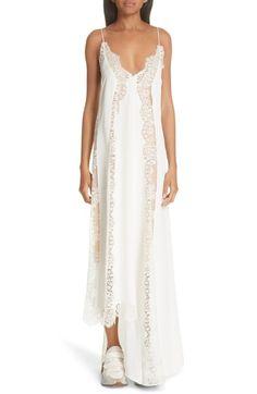 d92f0d158f Stella McCartney Lace Panel Asymmetrical Silk Dress