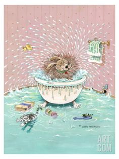 Bath Time Giclee Print by Gary Patterson at Art.com