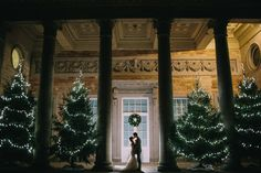 Justin Alexander Wedding Dress For A Winter Wedding At Compton Verney Art Gallery With Groom In Reiss And Bridesmaids In Embellished Dresses From Miss Selfridge