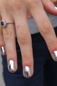Chrome nails.