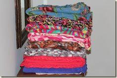 fleece blanket edging - neater than tying it