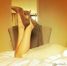 Lauren Conrad taking a break from New York Fashion Week. #LaurenConrad #heels #nyfw - love these heels