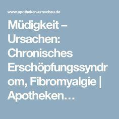 Müdigkeit – Ursachen: Chronisches Erschöpfungssyndrom, Fibromyalgie   Apotheken…