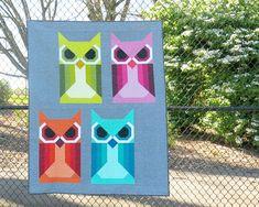 ALLIE OWL pdf quilt pattern
