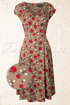 Bunny - 50s Sheila Dress Caramel - this is divine!!!