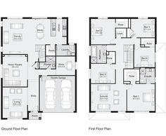 Madison 35 || Floor Plan - 329.50sqm, 11.70m width, 15.90m depth || Clarendon Homes