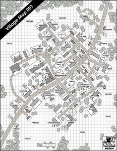 Village Map 001 - Paratime Design | DriveThruRPG.com