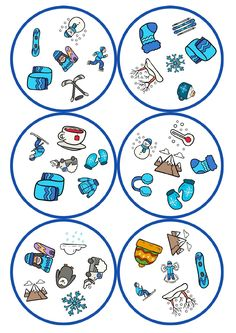 juego-de-mesa-dobble-motivos-llega-el-frio_page-0004 - Orientación Andújar - Recursos Educativos Learning Shapes, Kids Learning, Infant Activities, Activities For Kids, Kindergarten Portfolio, Shape Games, Early Math, English Activities, Games For Toddlers