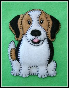 Beagle or Foxhound Pudgy Puppy Christmas by justsue on Etsy