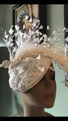 Princess Diana – Hats by Shellie McDowell Facinator Hats, Fascinators, Headpieces, Mad Hatter Hats, Bridal Hat, Millinery Hats, Kentucky Derby Hats, Fancy Hats, Church Hats
