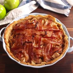 A bacon weave is the new lattice. #food #pastryporn #holiday #easyrecipe #recipe #forkyeah #eatthetrend #comfortfood #kids #diy #triedit
