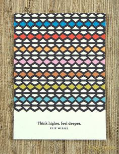 """""""think higher, feel deeper"""" = from a great etsy shop"""