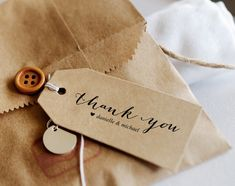 Editable Printable FREE Thank You Tag! Free printable template for download at Bliss Paper Boutique.