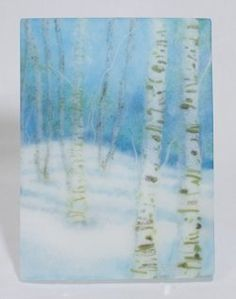 Glass is an uncomon medium for producing art work. Painting places the image on the surface of the canvas. Glass images have a three dimentional...