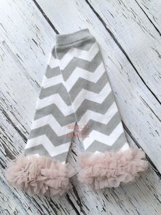 Baby leg warmers, girls leg warmers, gray and white chevron, baby girl leg warmers, infant leg warmers, ruffle leg warmer, dance leg warmer by GigglesandWigglesBtq on Etsy https://www.etsy.com/listing/258619464/baby-leg-warmers-girls-leg-warmers-gray