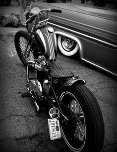 Old school bike & hot rod