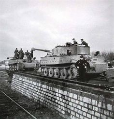 2 Tiger I Ausf. E during loading on trains. | WW2 tanks | Flickr