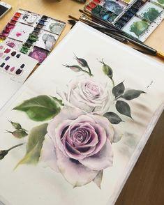 #watercolor #watercolour #watercolorart #watercolorpainting #watercolorillustration #watercolorblog #illustrator #topcreator #rose #aquarelle #art #artist #artwork #artsy #art_empire #drawing #painting #акварель #рисую #художник