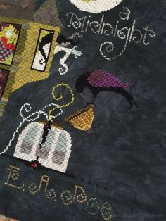 The Master and The Macabre | Cricket Collection #crossstitch #halloween #needle #thread