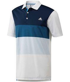 58fbaf270a5 adidas Golf Mens Colour Block Polo Shirt - Golfonline Adidas Golf