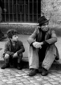 De Sica's 'Bicycle Thieves' (1948). Watched this for the first time yesterday, and what can I say. A truly wonderful Italian journey between a desperate father and son, revealing that no matter how young your children may be, they're never too young to share a bond.