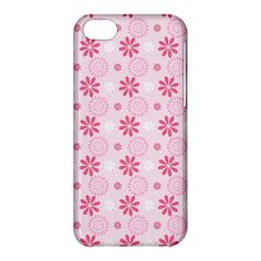 Pink Flower Pattern iPhone 5C Hardshell Case Cover - PDA Accessories