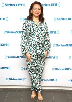Maya Rudolph in a printed green jumpsuit