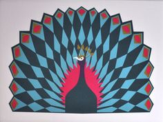 Image of Peacock Print