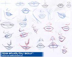 lips study by ~el-sour-maldito on deviantART