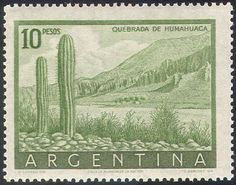 Argentina-1954-Cactus-Nature-Plants-Flowers-Cacti-Cactuses-Humahuaca-1v-n25675