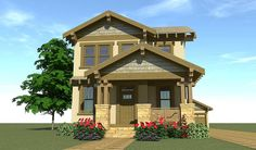 Craftsman Bungalow for Narrow Lot - 44119TD | Cottage, Craftsman, Northwest, Photo Gallery, 2nd Floor Master Suite, CAD Available, PDF, Narrow Lot | Architectural Designs
