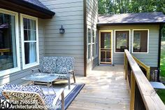 Deck on the back of house plan 29865RL
