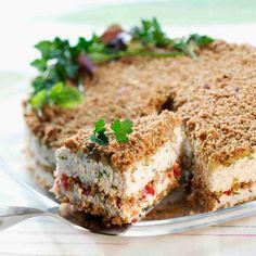 Cake sandwich (one version). Cake Sandwich, Tea Sandwiches, Savory Pastry, Savoury Baking, I Love Food, Good Food, Yummy Food, Just Eat It, Food Tasting