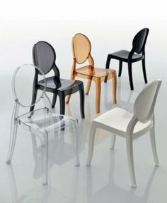 sedia moderna soggiorno cucina mod ghost