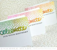 Confetti Trio Cards by Nichole Heady for Papertrey Ink (June 2015)