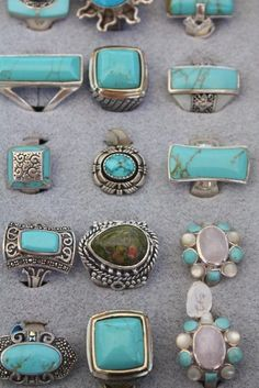 Turquoise rings - find handmade turquoise jewelry @ www.blucats.com